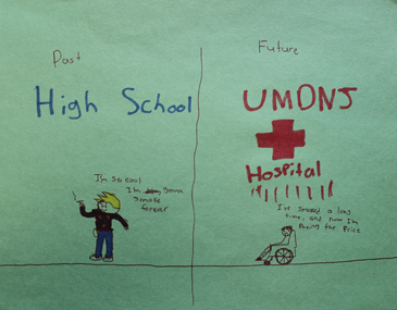 <div> During an activity in a recent pilot session of the program, children were asked to create a poster for young children to share information about the dangers of tobacco use and sun exposure.</div>