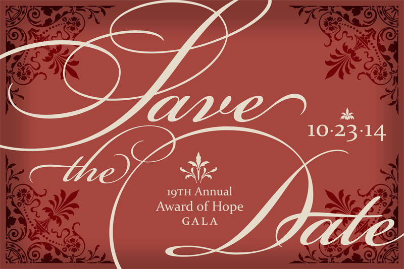 2014 Award of Hope Gala Save the Date