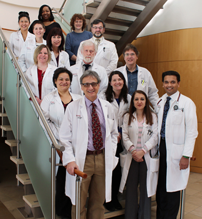 Blood and Marrow Transplant Program team at Rutgers Cancer Institute of New Jersey