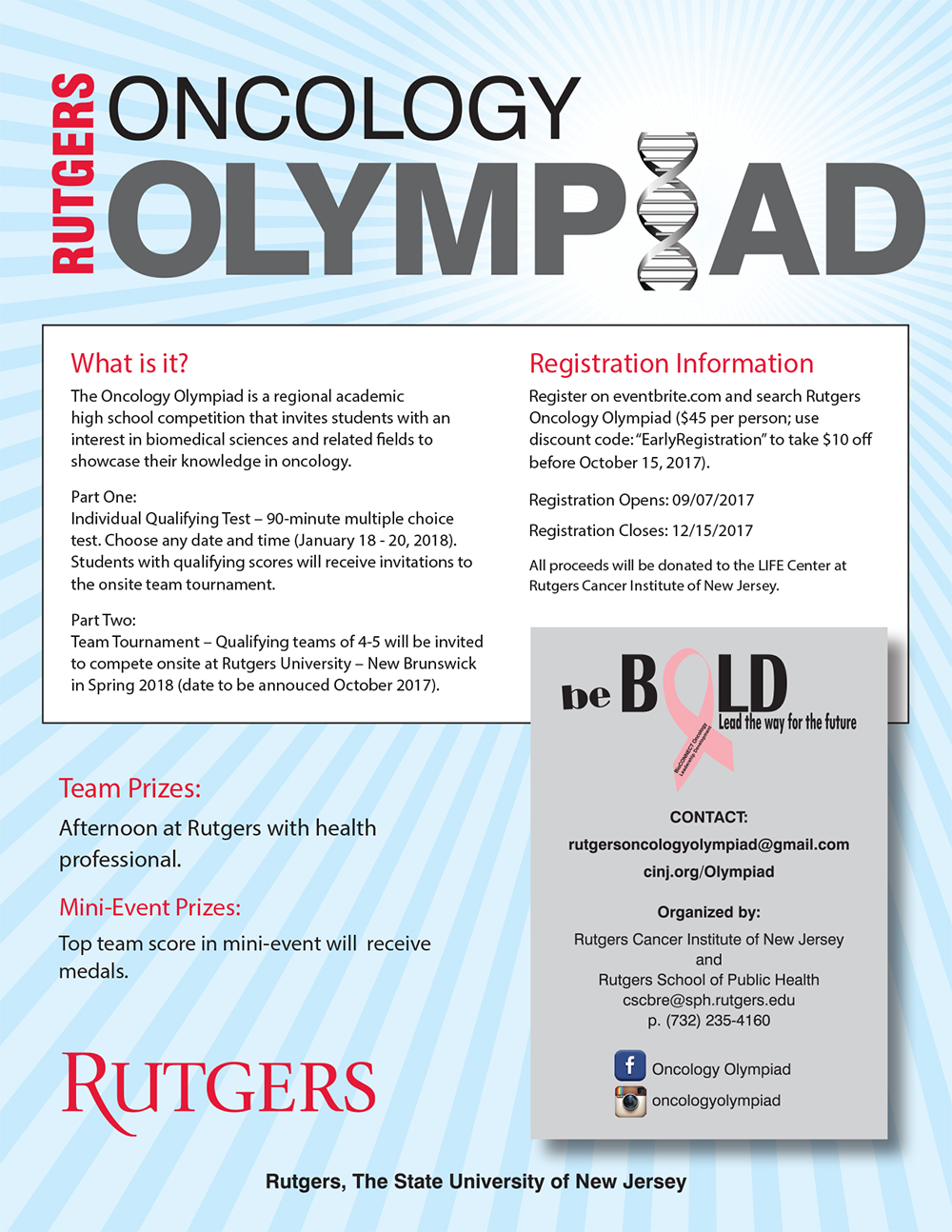 2018 Rutgers Oncology Olympiad