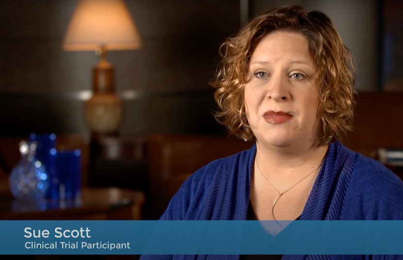 still from video Immunotherapy Clinical Trials: Sue Scott's Story of Survival