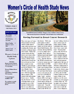 Women's Circle of Health Study Newsletter Fall / Winter 2013