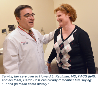 Howard L. Kaufman, MD, FACS and Carrie Best