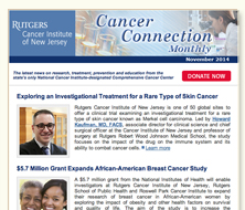 CINJ's Cancer Connection e-Newsletter
