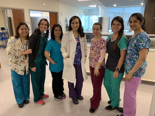 group shot of Rutgers Cancer Institute nurses