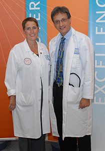 Dr. Roger Strair and nurse Jackie Manago